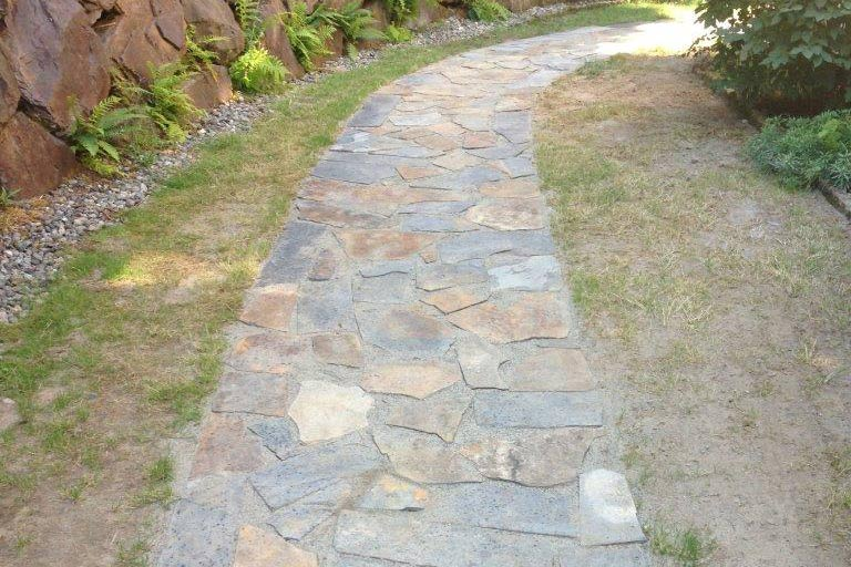 Bothell Flagstone Walkway Installation Hoffman S Landscape