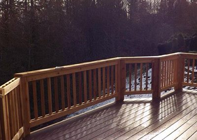 Custom porch installation Woodinville