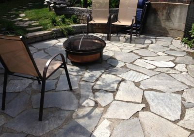 Kenmore-Flagstone-Patio-Installation
