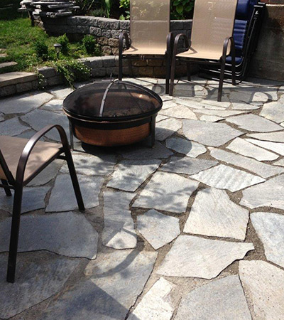 Kenmore Flagstone Patio Installation
