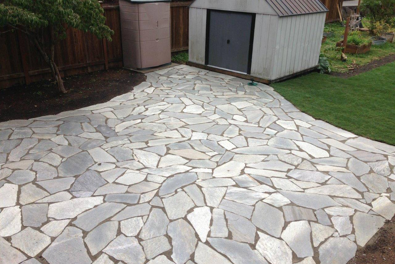 Woodinville Flagstone Patio Installation Hoffman S Landscape