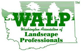 WALP logo landscape services professional association