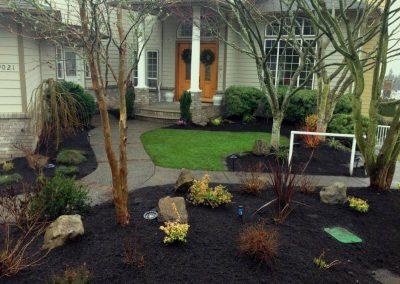 Hawkinson sod, plants, mulch