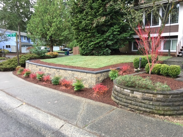 a nice yard that has benefited from landscape maintenance