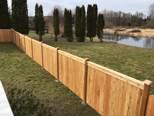 fence built by fence company Hoffman's Landscape