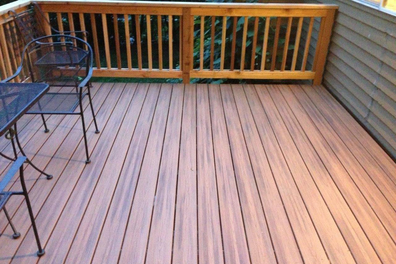 deck built by deck builders Hoffman's Landscape