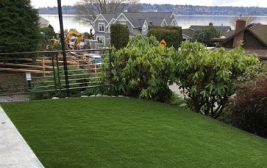 an example of a yard that has benefited from turf grass installation